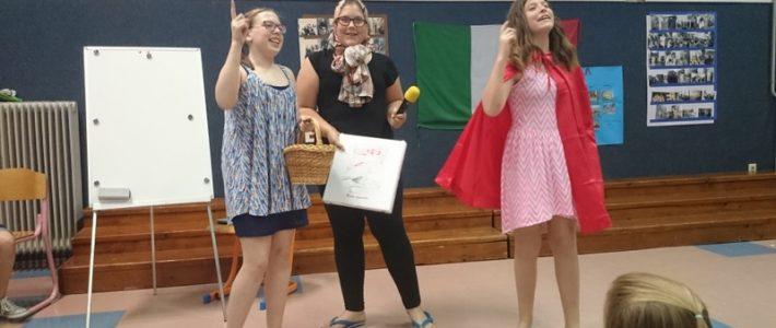 Nastop učencev, ki obiskujejo italijanščino