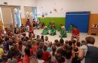 Učenci podružnične šole Vreme na obisku v vrtcu v Divači