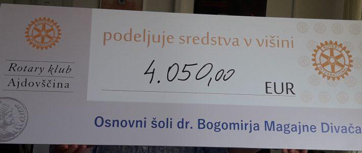 Donacija Rotary kluba Ajdovščina tokrat naši šoli
